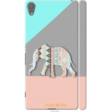 Чехол на Sony Xperia XA Узорчатый слон