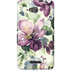 Чехол на Sony Xperia E4g Акварель цветы