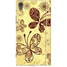 Чехол на Sony Xperia XA1 Рисованные бабочки