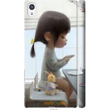 Чехол на Sony Xperia Z5 Premium Милая девочка с зайчиком