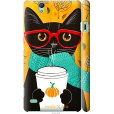 Чехол на Sony Xperia C4 Осенний кот