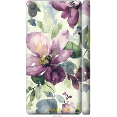 Чехол на Sony Xperia E5 Акварель цветы