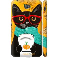 Чехол на Sony Xperia E4 Dual Осенний кот