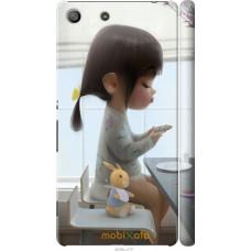 Чехол на Sony Xperia M5 Милая девочка с зайчиком