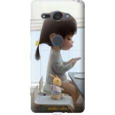 Чехол на Sony Xperia XZ2 Compact H8324 Милая девочка с зайчи