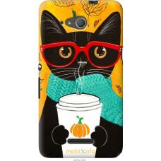 Чехол на Sony Xperia E4g Осенний кот
