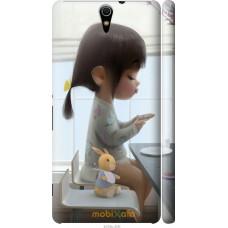 Чехол на Sony Xperia C5 Ultra Dual E5533 Милая девочка с зай