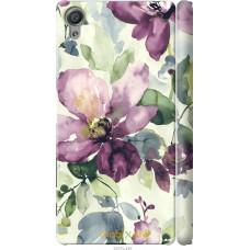 Чехол на Sony Xperia X Акварель цветы