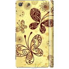 Чехол на Sony Xperia M5 Рисованные бабочки
