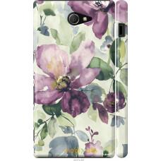 Чехол на Sony Xperia M2 D2305 Акварель цветы