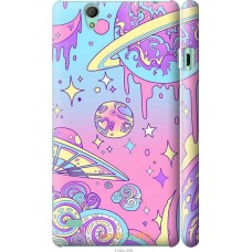 Чехол на Sony Xperia C4 'Розовый космос