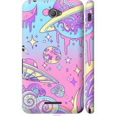 Чехол на Sony Xperia E4 Dual 'Розовый космос