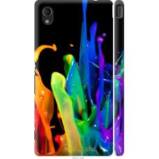 Чехол на Sony Xperia M4 Aqua брызги краски