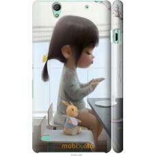 Чехол на Sony Xperia C4 Милая девочка с зайчиком