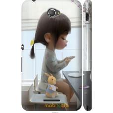 Чехол на Sony Xperia E4 Dual Милая девочка с зайчиком