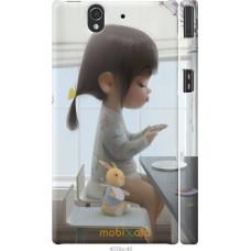 Чехол на Sony Xperia Z C6602 Милая девочка с зайчиком