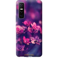 Чехол на Vivo Y73S Пурпурные цветы