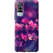 Чехол на Vivo Y51 2020 Пурпурные цветы