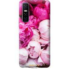 Чехол на Vivo Y73S Розовые пионы