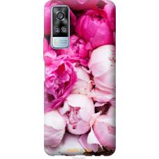 Чехол на Vivo Y51 2020 Розовые пионы