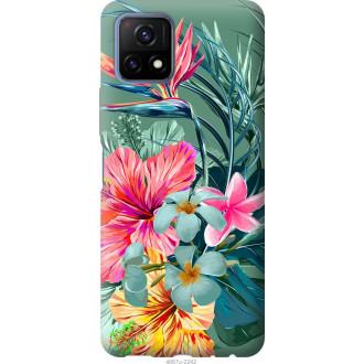 Чехол на Vivo Y52S Тропические цветы v1