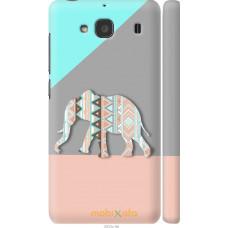 Чехол на Xiaomi Redmi 2 Узорчатый слон