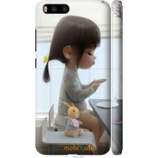 Чехол на Xiaomi Mi6 Милая девочка с зайчиком
