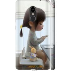 Чехол на Xiaomi Redmi Note 4X Милая девочка с зайчиком