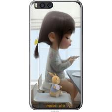 Чехол на Xiaomi Mi Note 3 Милая девочка с зайчиком