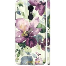 Чехол на Xiaomi Redmi 5 Plus Акварель цветы