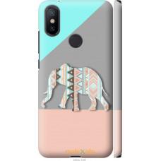 Чехол на Xiaomi Mi A2 Узорчатый слон