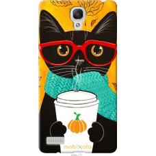Чехол на Xiaomi Redmi Note Осенний кот
