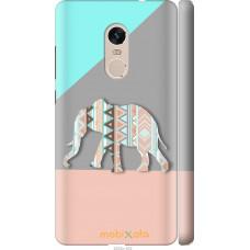 Чехол на Xiaomi Redmi Note 4 Узорчатый слон