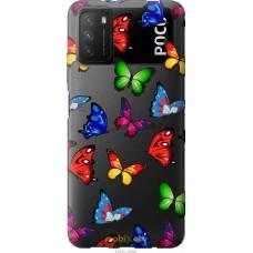 Чехол на Xiaomi Poco M3 Красочные мотыльки