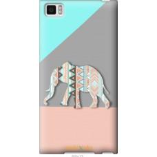 Чехол на Xiaomi Mi3 Узорчатый слон