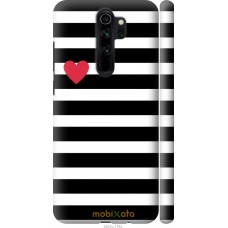 Чехол на Xiaomi Redmi Note 8 Pro Черно-белые полосы