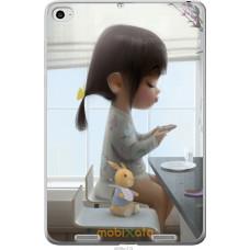 Чехол на Xiaomi Mi Pad 2 Милая девочка с зайчиком