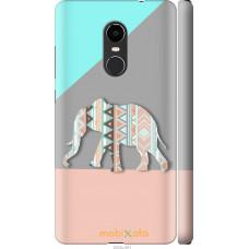 Чехол на Xiaomi Redmi Note 4X Узорчатый слон