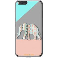 Чехол на Xiaomi Mi Note 3 Узорчатый слон