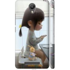 Чехол на Xiaomi Redmi Note 2 Милая девочка с зайчиком