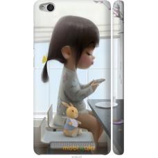 Чехол на Xiaomi Redmi 3 Милая девочка с зайчиком