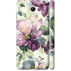 Чехол на Xiaomi Redmi 5 Акварель цветы
