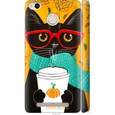 Чехол на Xiaomi Redmi 3x Осенний кот