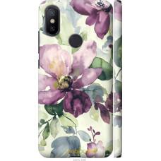 Чехол на Xiaomi Mi A2 Акварель цветы