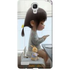 Чехол на Xiaomi Redmi Note Милая девочка с зайчиком