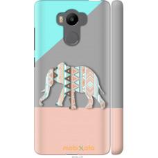 Чехол на Xiaomi Redmi 4 pro Узорчатый слон