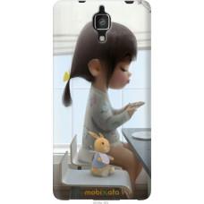 Чехол на Xiaomi Mi4 Милая девочка с зайчиком