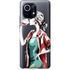 Чехол на Xiaomi Mi 11 Девушка с бокалом
