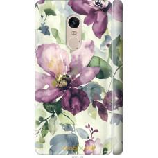 Чехол на Xiaomi Redmi Note 4 Акварель цветы