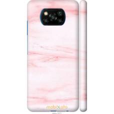 Чехол на Xiaomi Poco X3 розовый мрамор